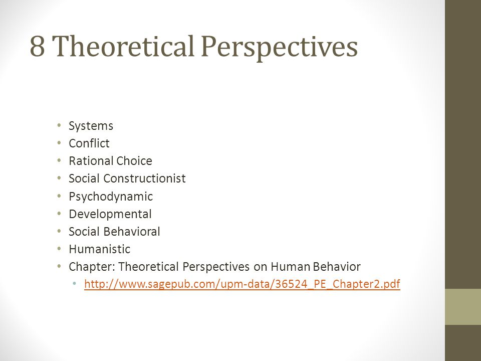 8 Theoretical Perspectives