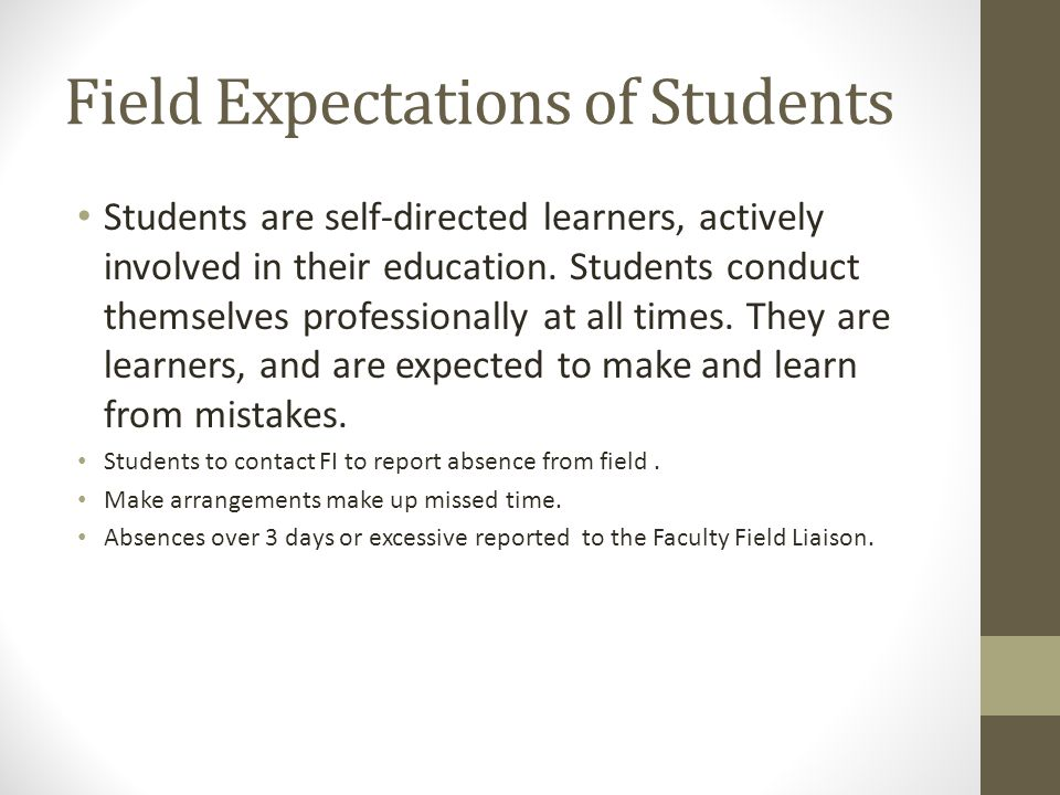 Field Expectations of Students