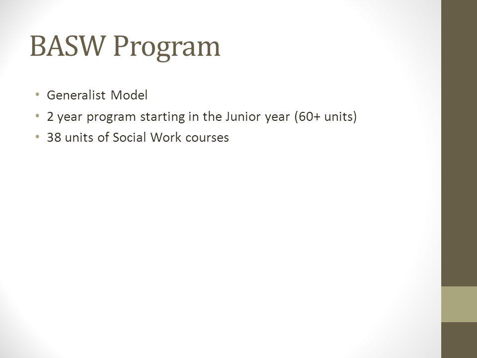 BASW Program Generalist Model