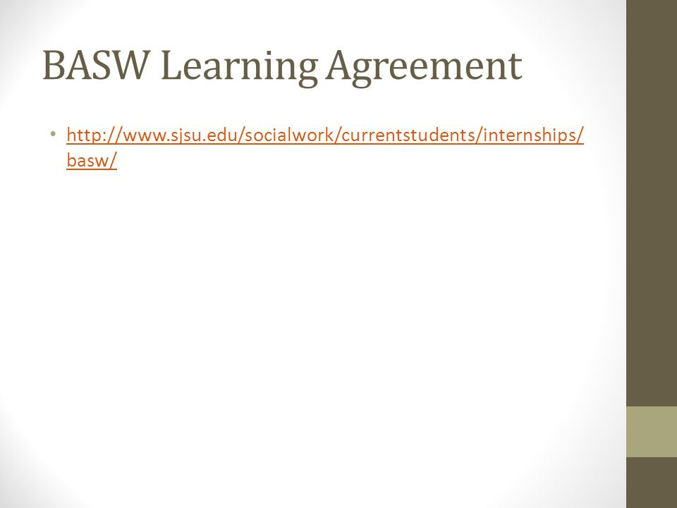 BASW Learning Agreement