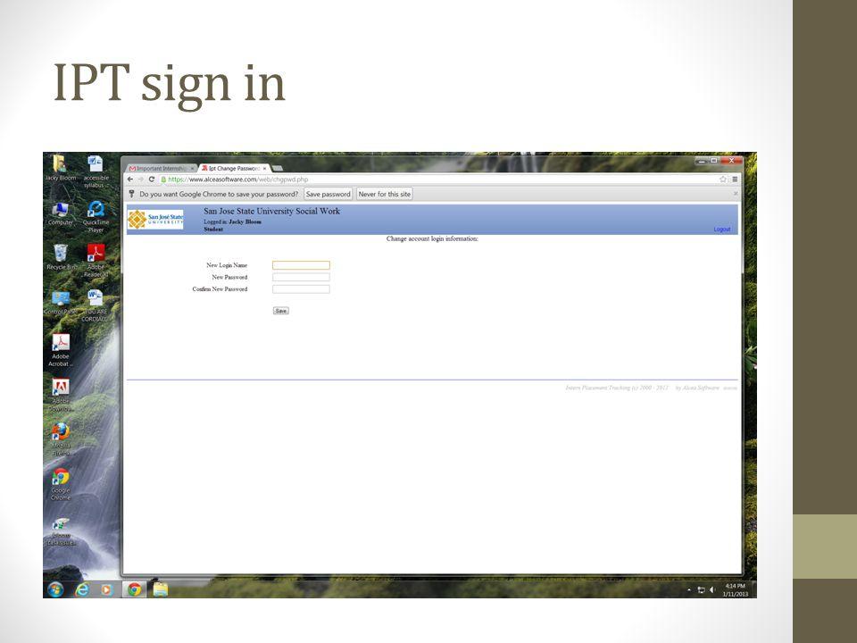 IPT sign in
