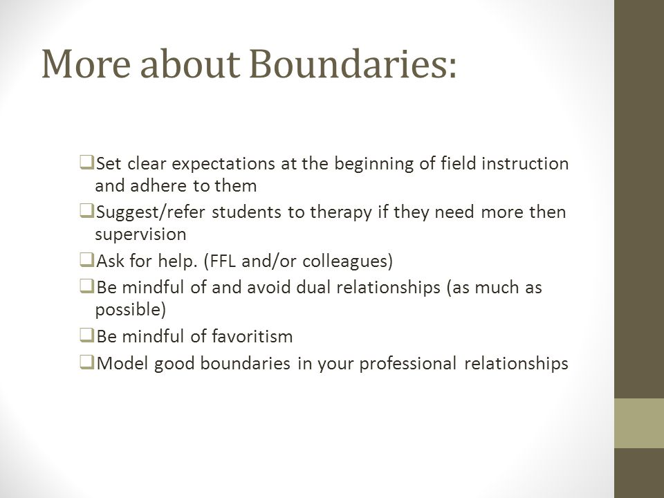 More about Boundaries: