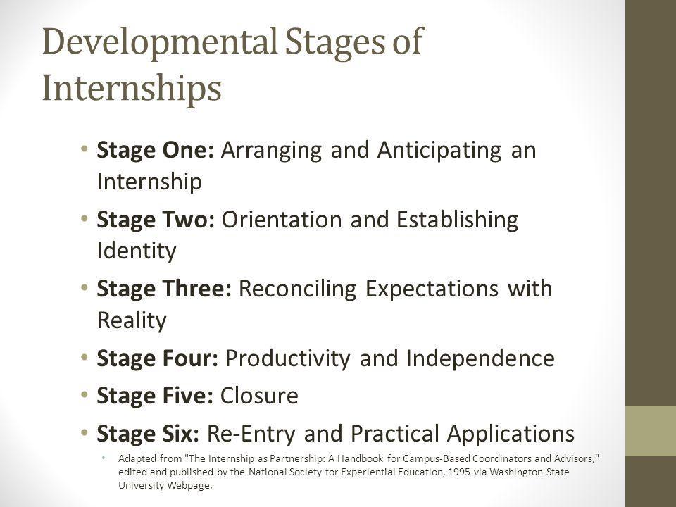 Developmental Stages of Internships