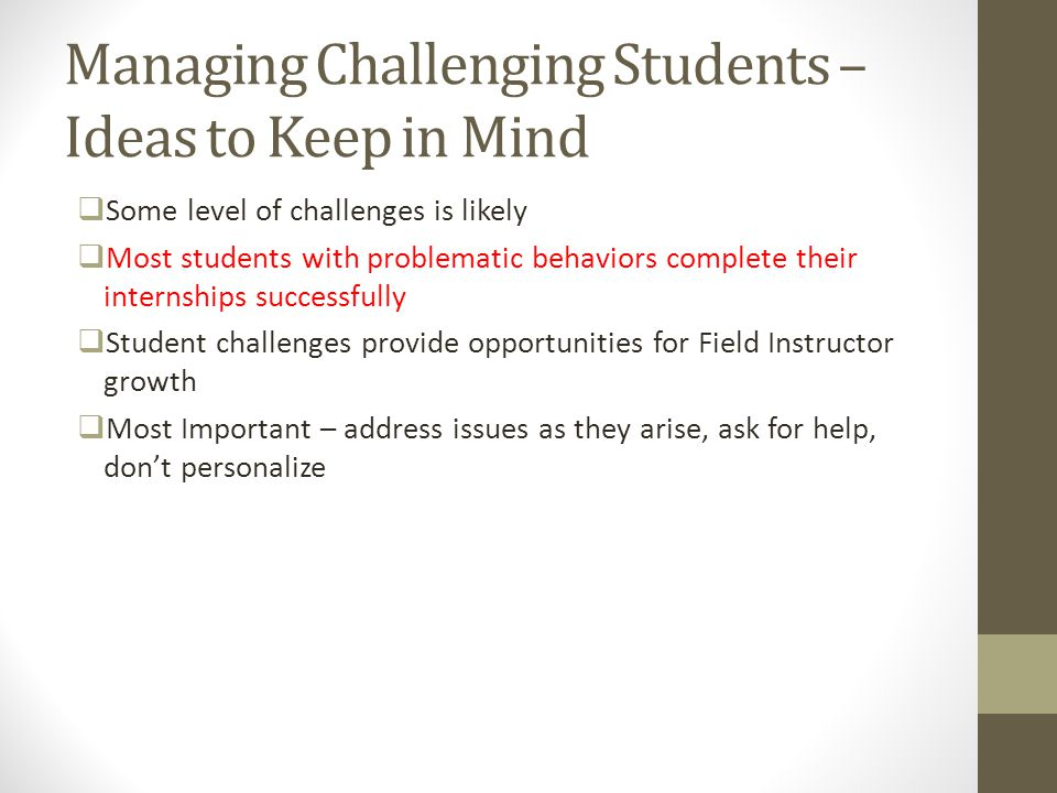 Managing Challenging Students – Ideas to Keep in Mind
