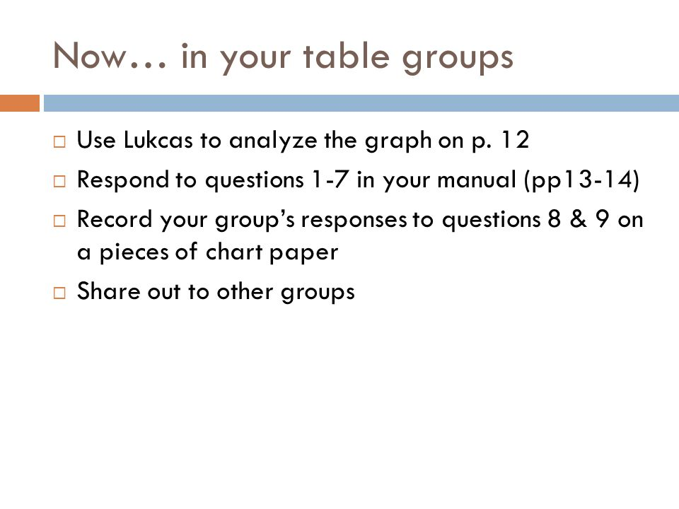 Now… in your table groups