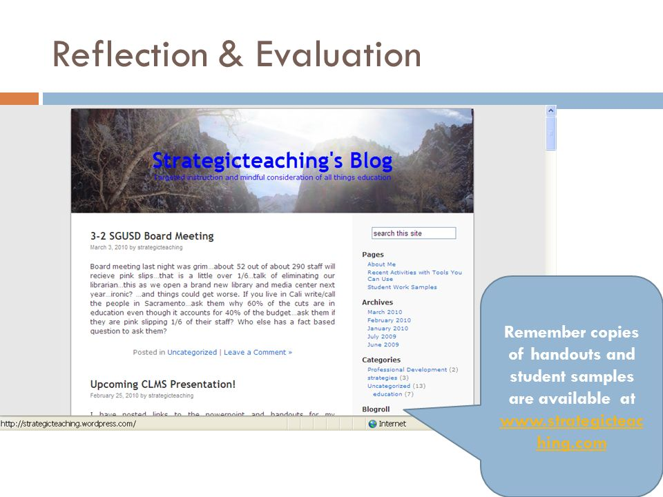 Reflection & Evaluation