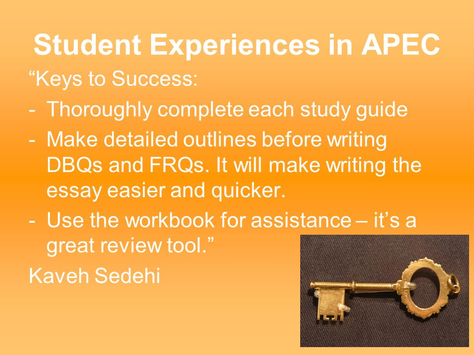 Student Experiences in APEC