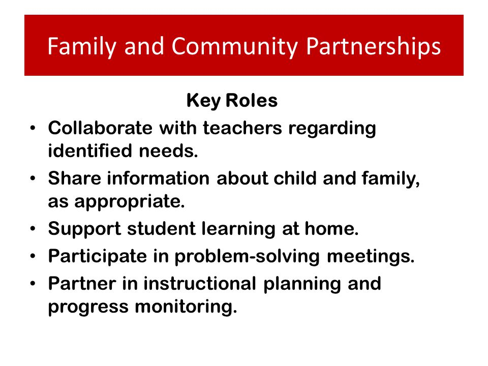 Family and Community Partnerships