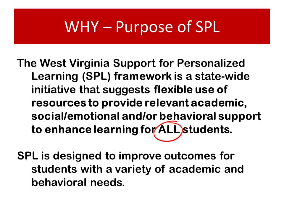 WHY – Purpose of SPL
