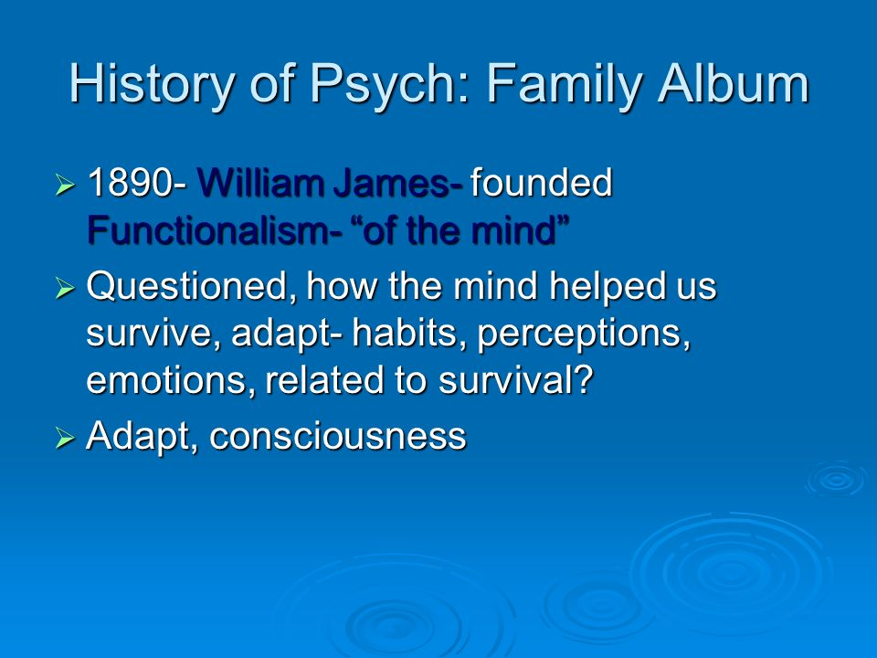 History of Psych: Family Album