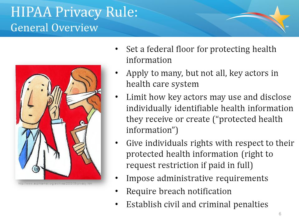 Who Must Comply with HIPAA Privacy Rule