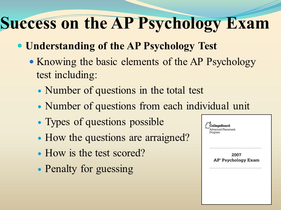 Success on the AP Psychology Exam