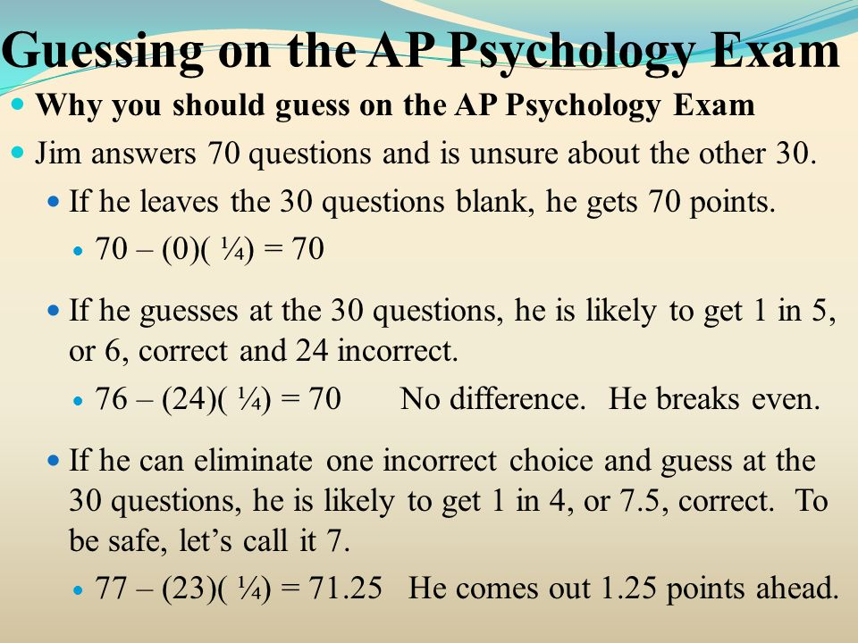 2000 AP Psychology Free-Response