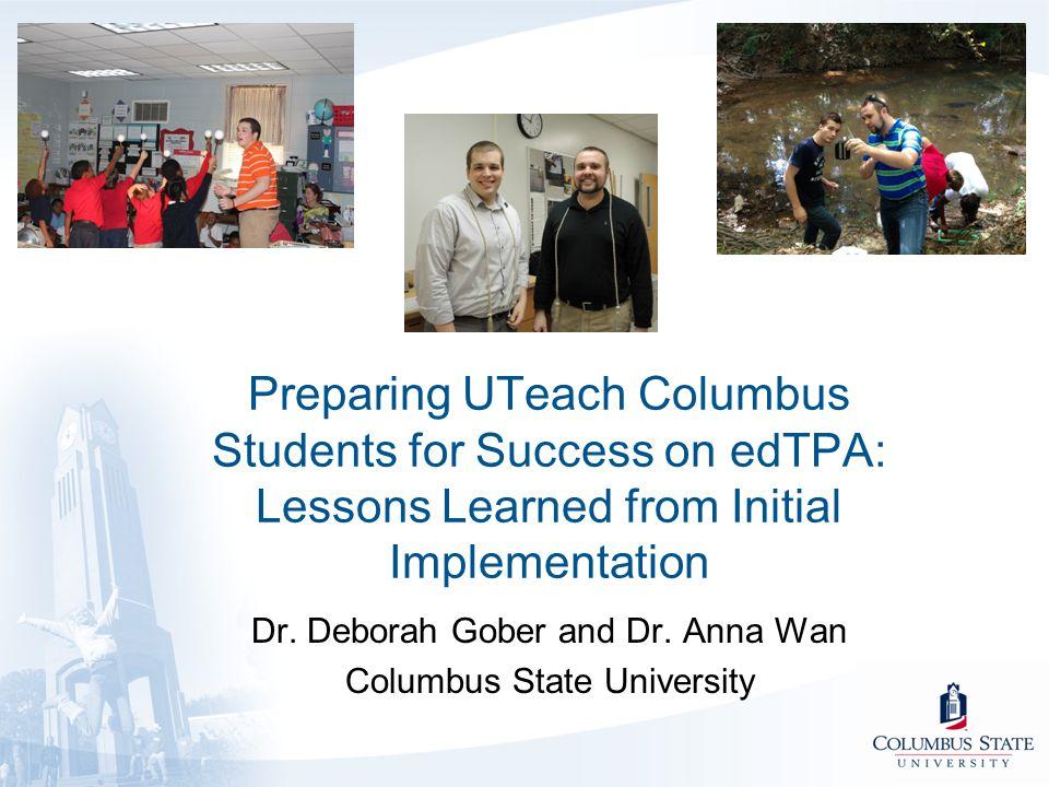 Dr. Deborah Gober and Dr. Anna Wan Columbus State University