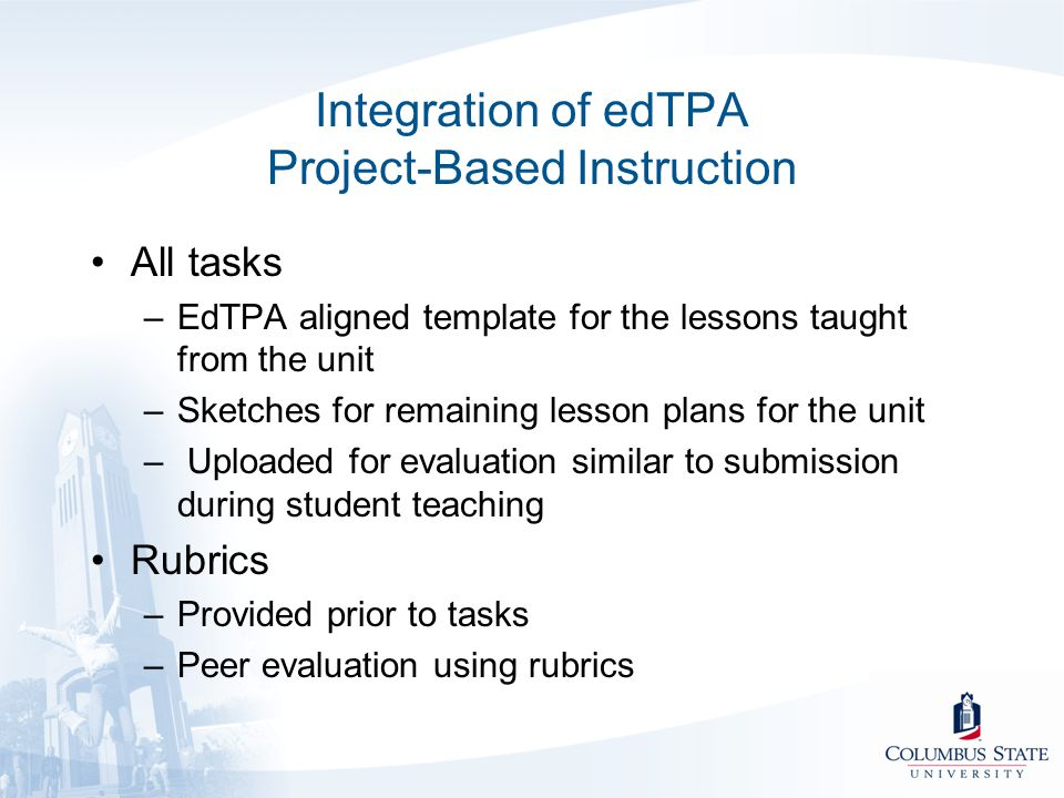 Integration of edTPA Project-Based Instruction