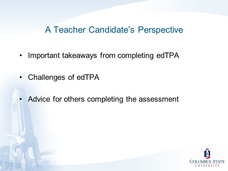 A Teacher Candidate's Perspective