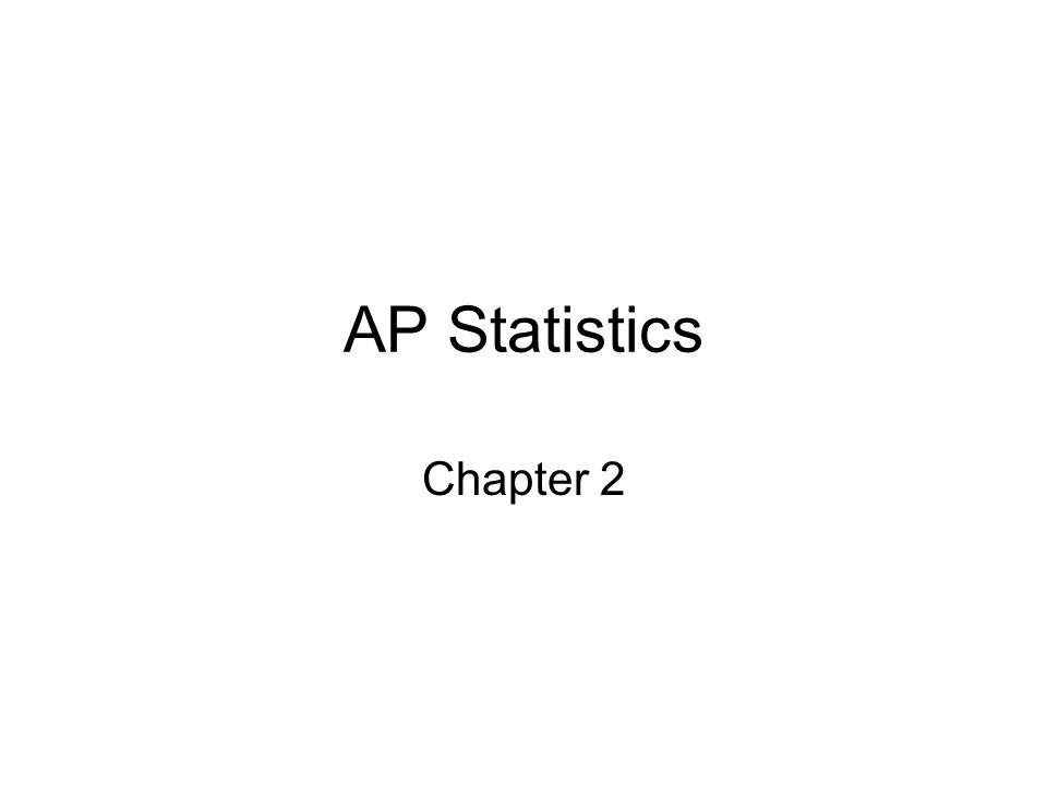 AP Statistics Chapter 2