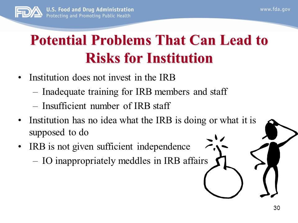 Potential Problems That Can Lead to Risks for Institution