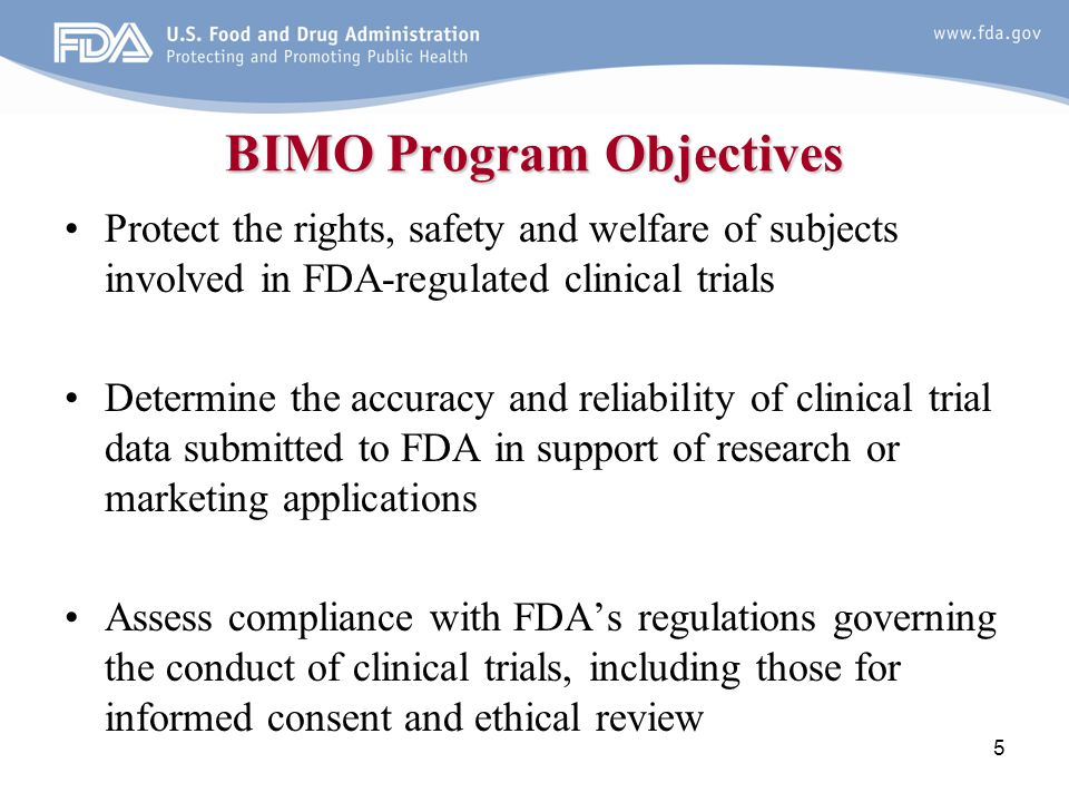 BIMO Program Objectives