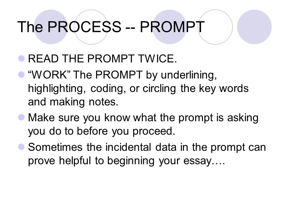 The PROCESS -- PROMPT READ THE PROMPT TWICE.