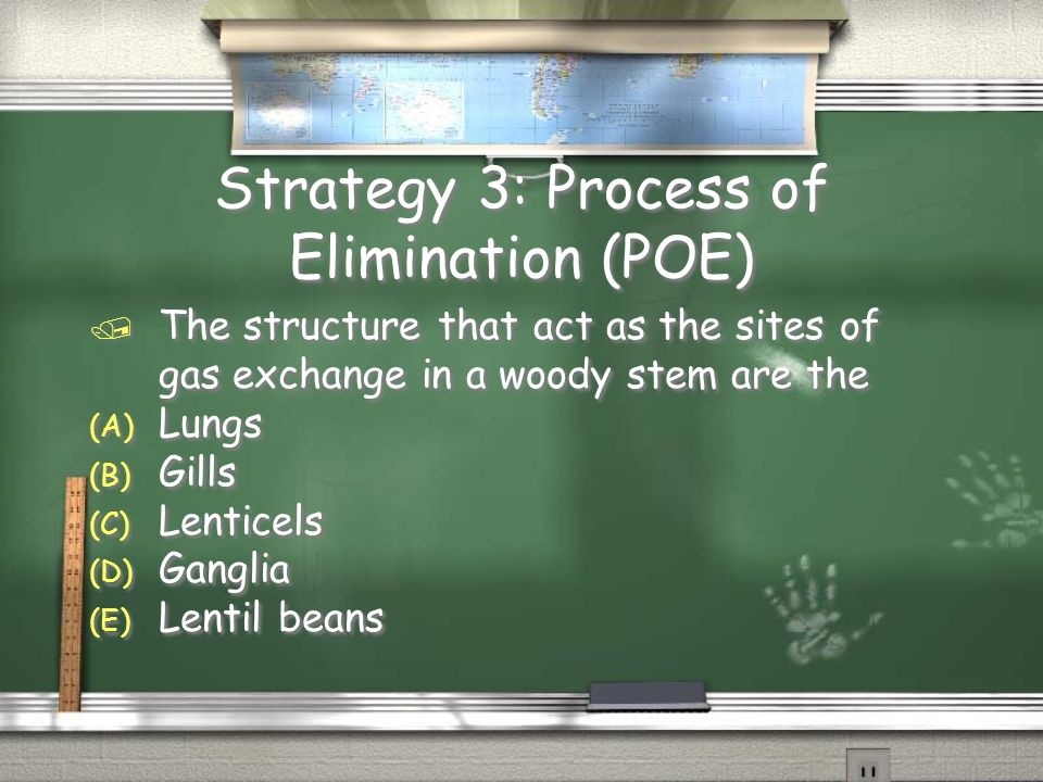 Strategy 3: Process of Elimination (POE)