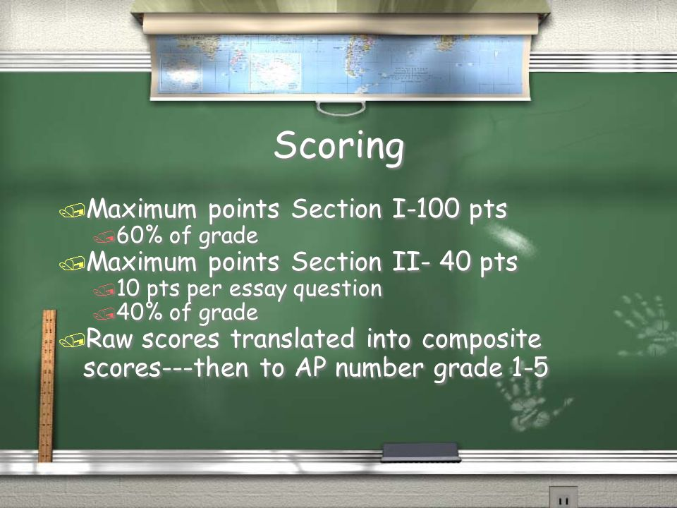 Scoring Maximum points Section I-100 pts