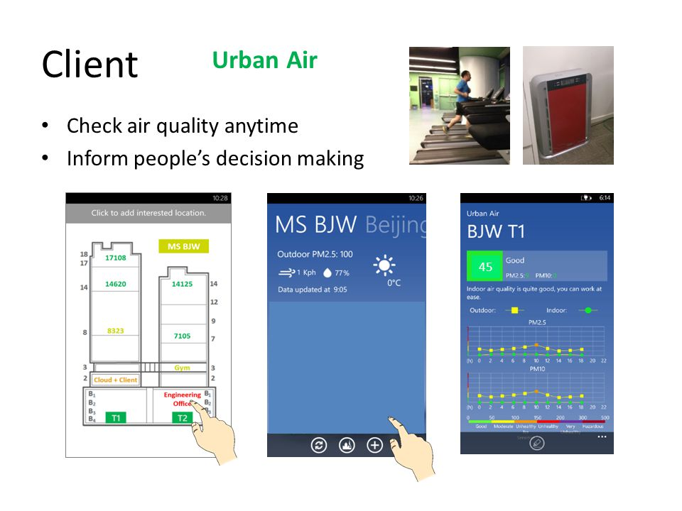 Client Urban Air Check air quality anytime
