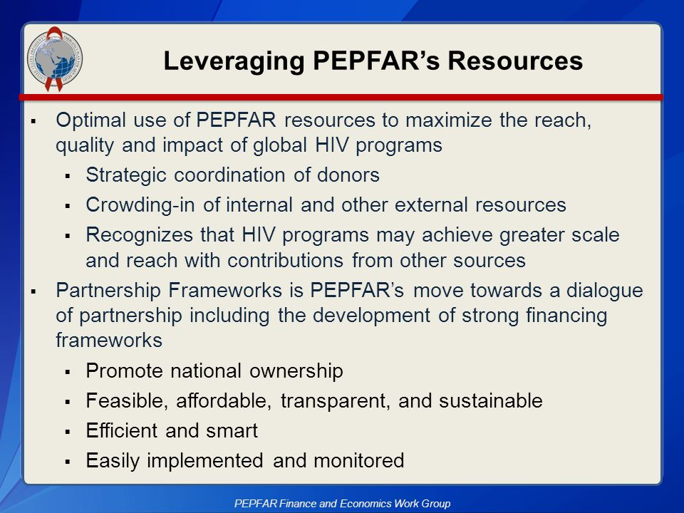 Leveraging PEPFAR's Resources