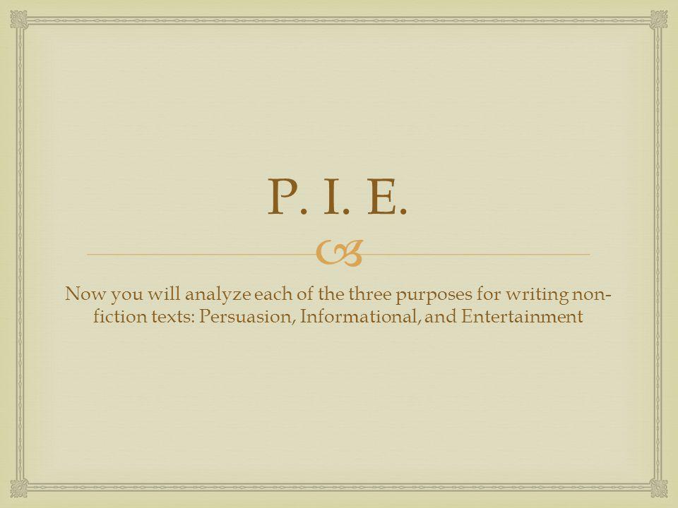 P. I. E.