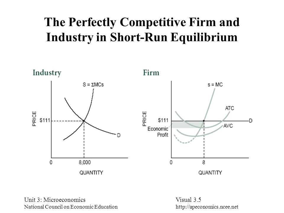 The Perfectly Competitive Firm and Industry in Short-Run Equilibrium