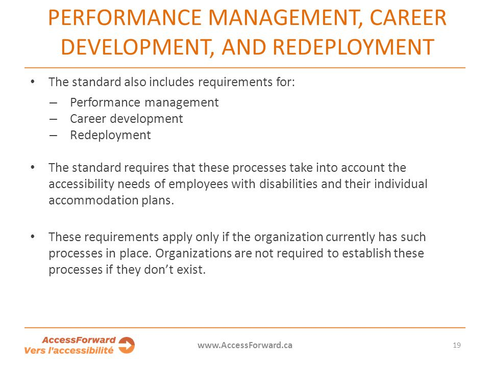 PERFORMANCE MANAGEMENT, CAREER DEVELOPMENT, AND REDEPLOYMENT