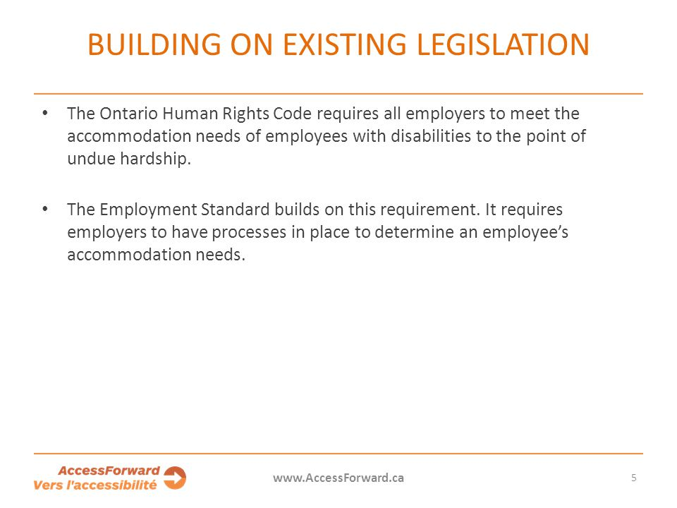 Building on existing legislation