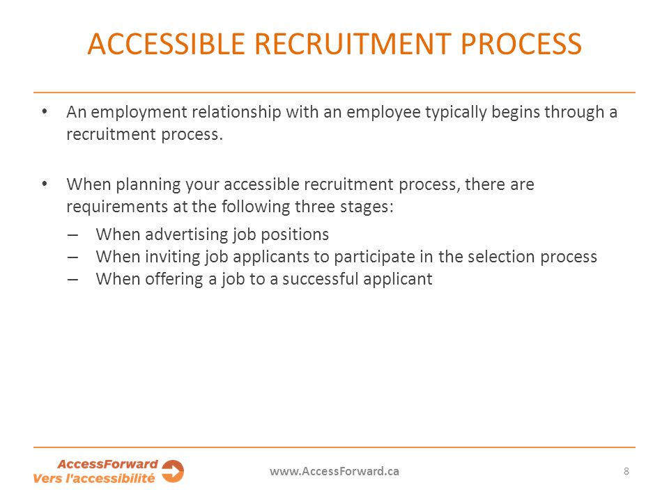 Accessible recruitment process