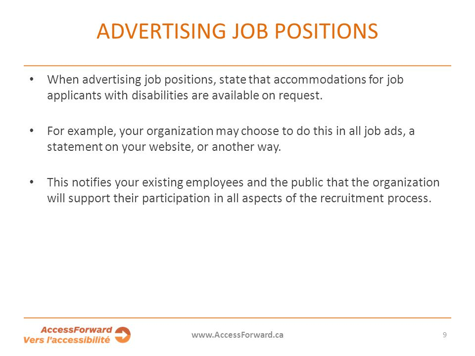 Advertising job positions