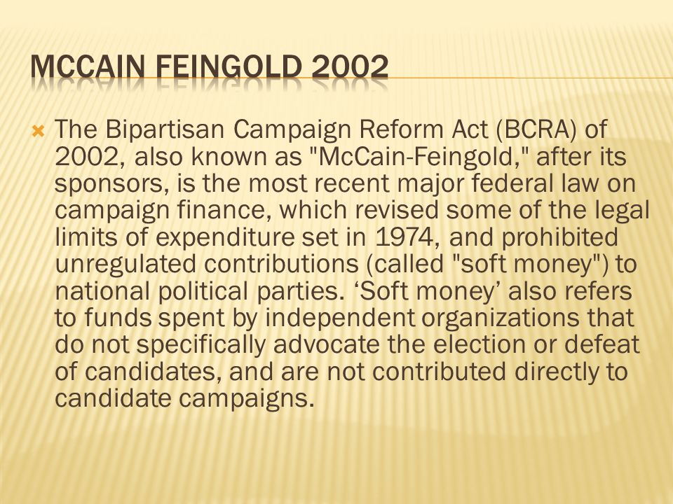 McCain Feingold 2002