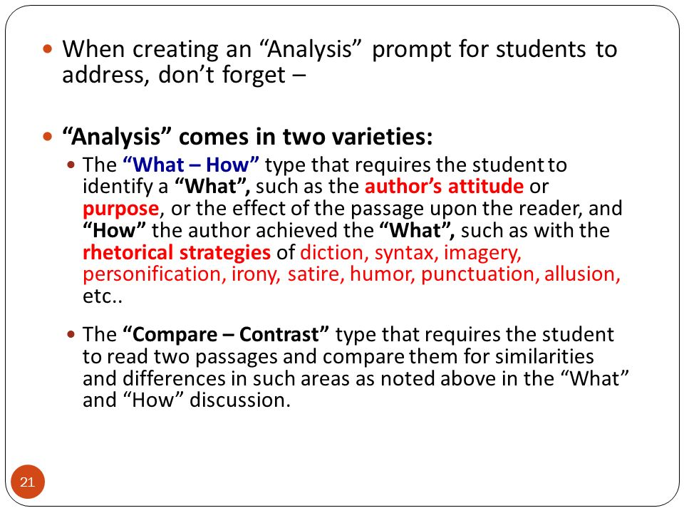 Analysis comes in two varieties: