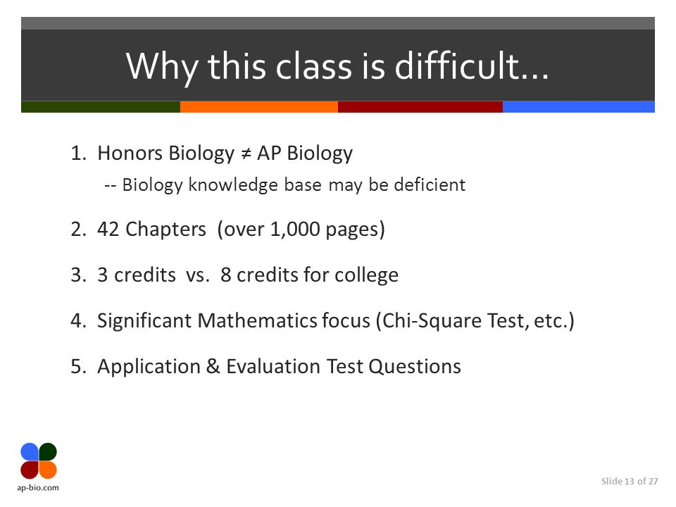 Why this class is difficult…