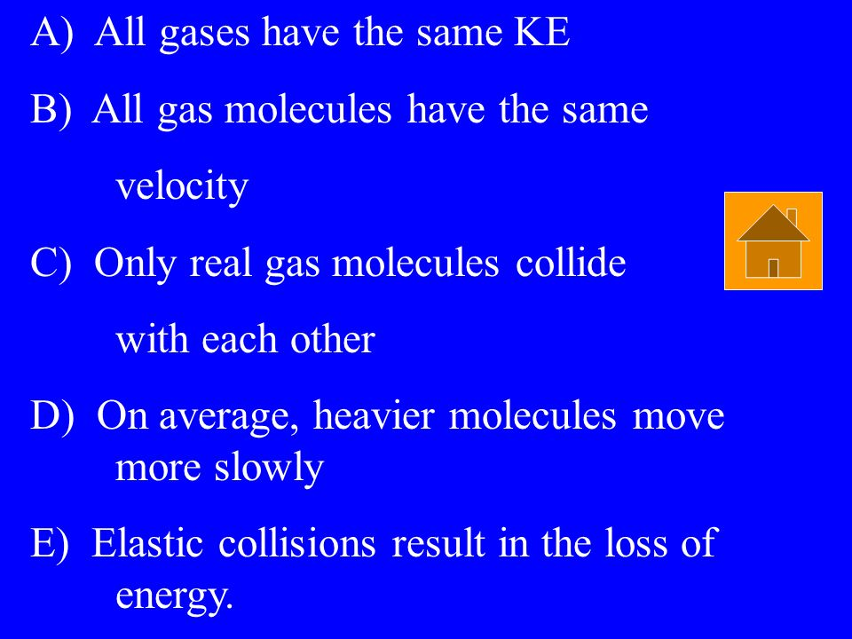 A) All gases have the same KE