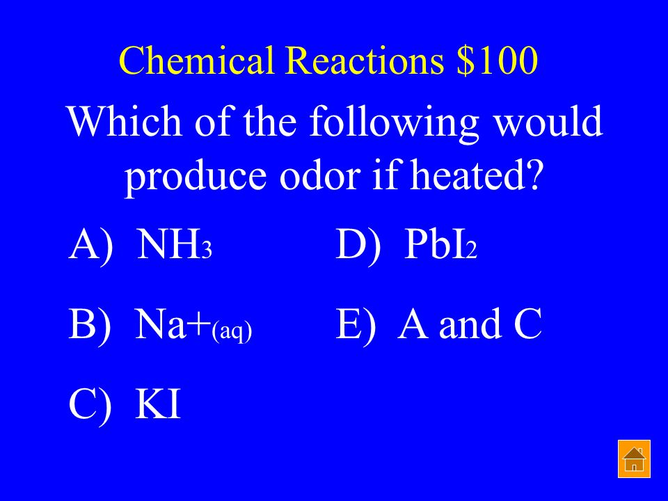 Which of the following would produce odor if heated