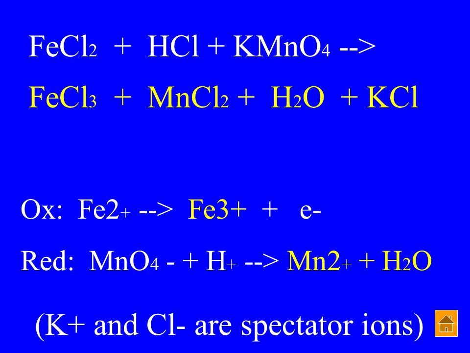 (K+ and Cl- are spectator ions)
