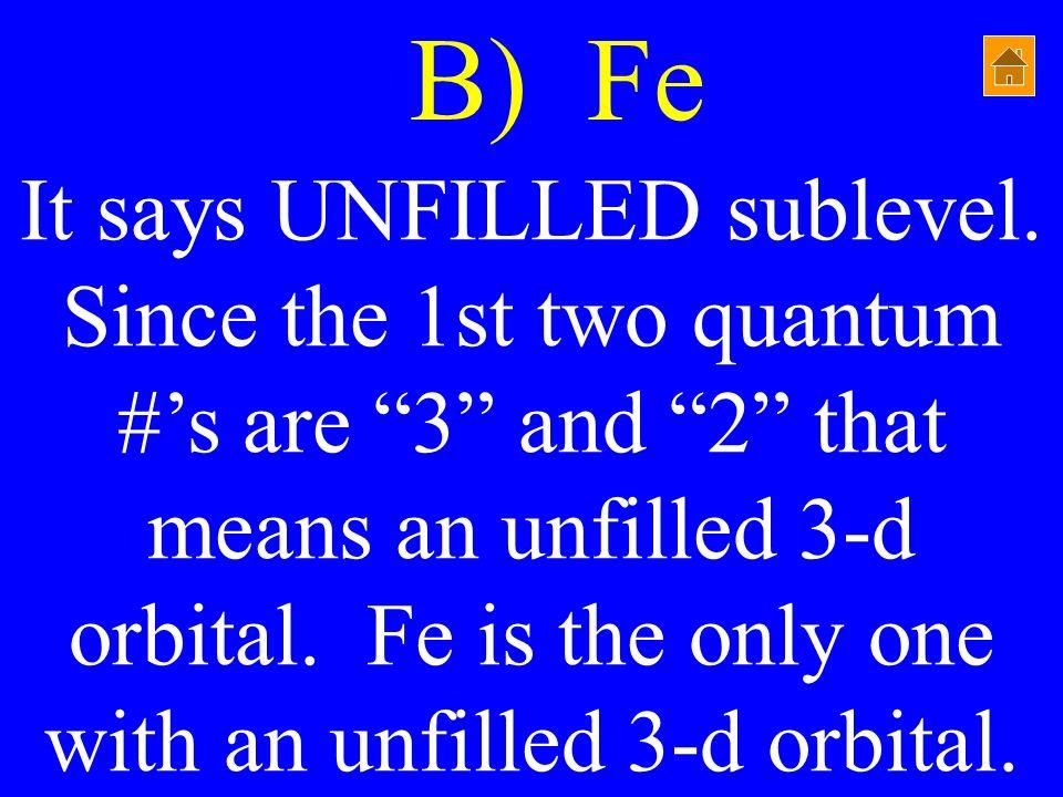 B) Fe