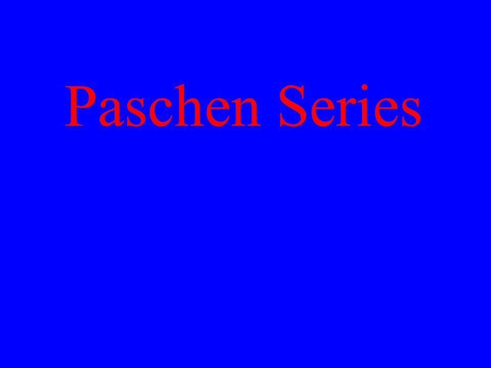 Paschen Series
