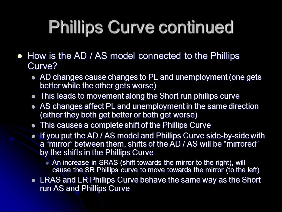 Phillips Curve continued
