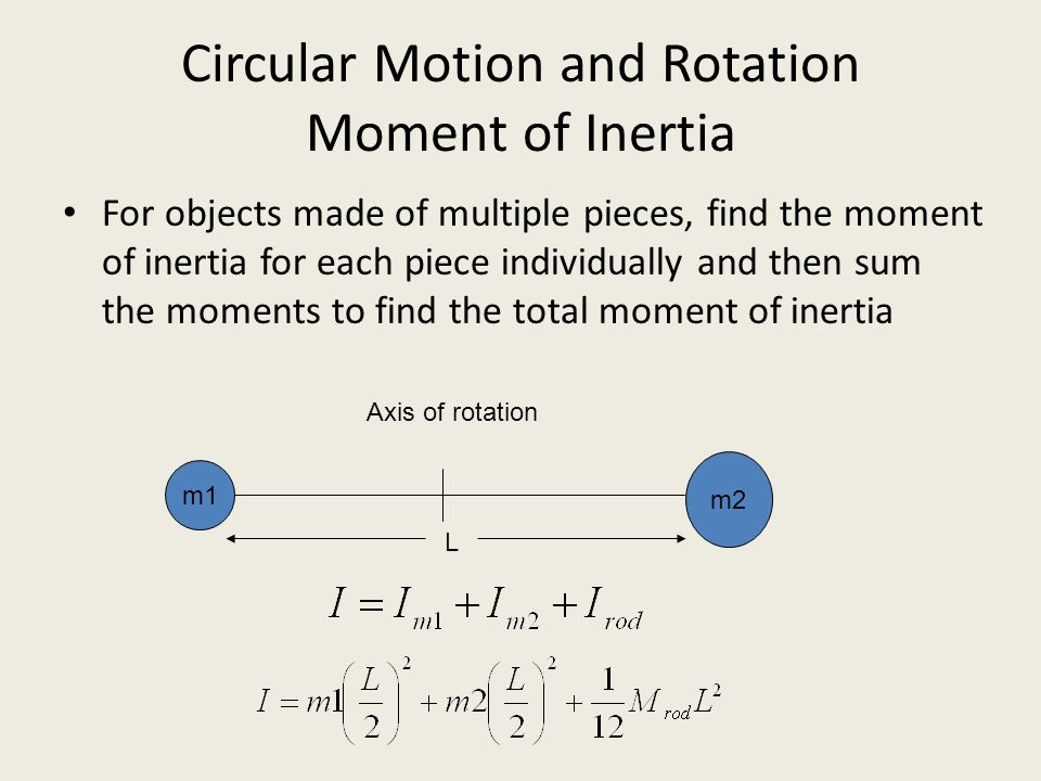 Circular Motion and Rotation Moment of Inertia