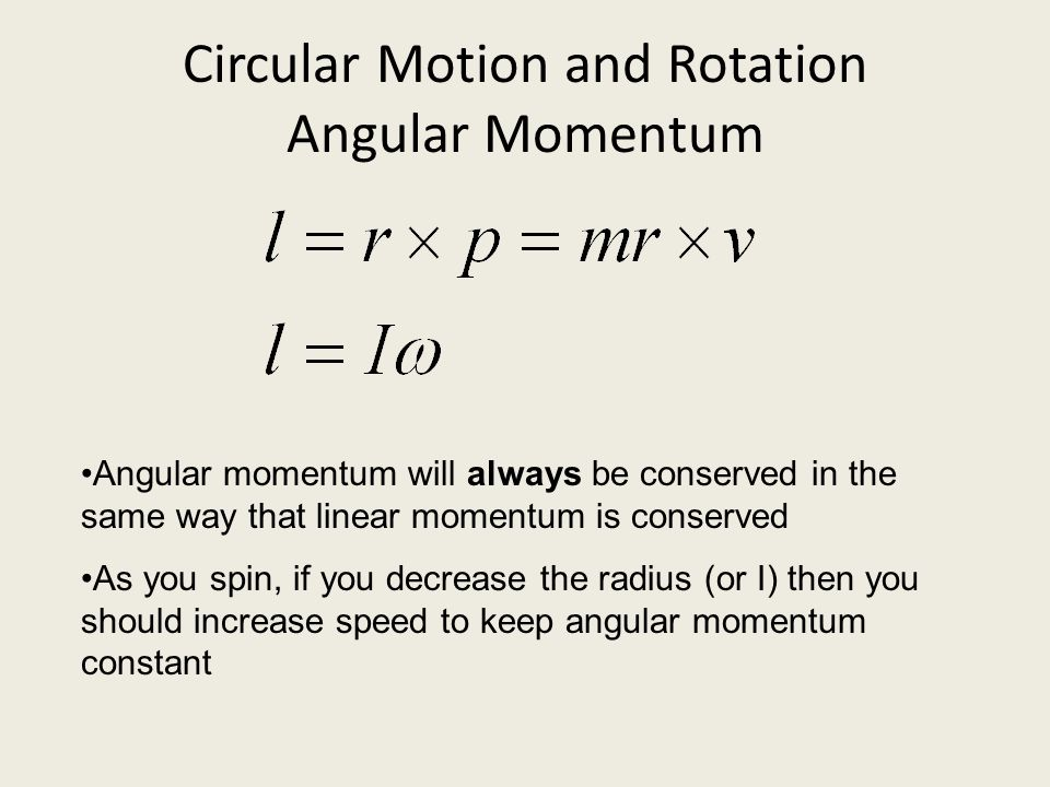 Circular Motion and Rotation Angular Momentum