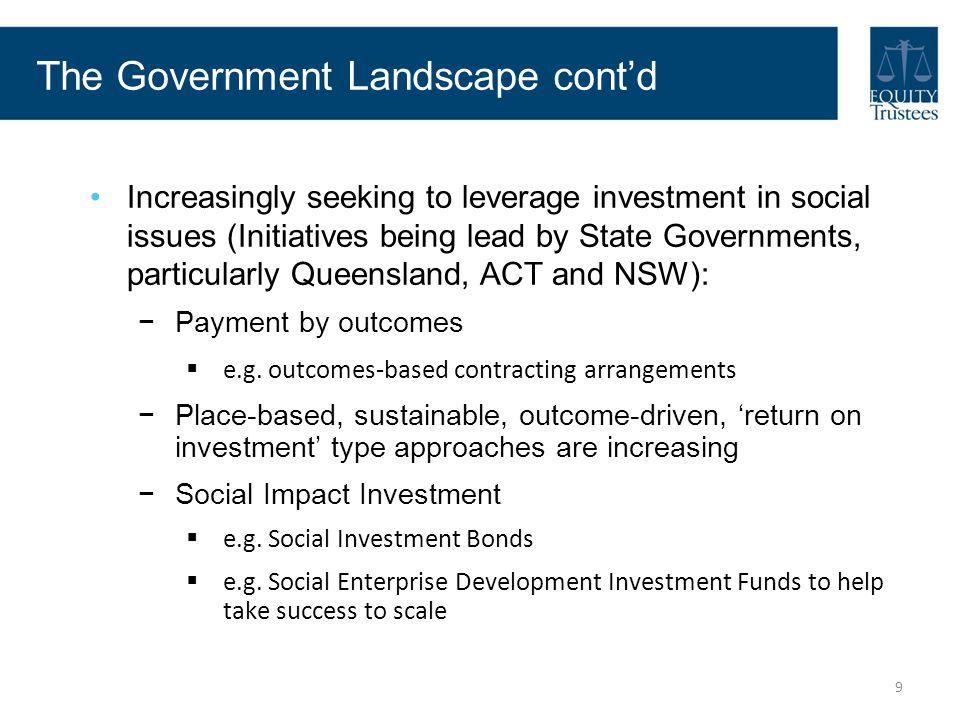 The Government Landscape cont'd