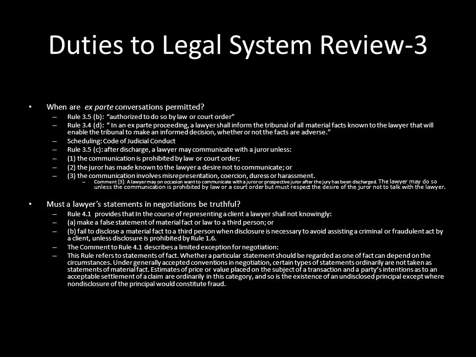 Duties to Legal System Review-3