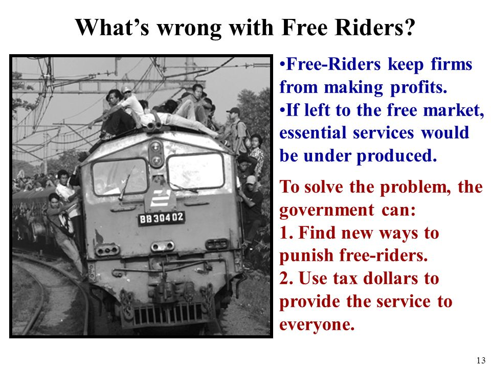 What's wrong with Free Riders