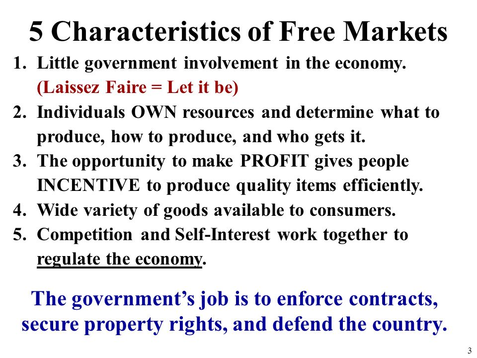 5 Characteristics of Free Markets