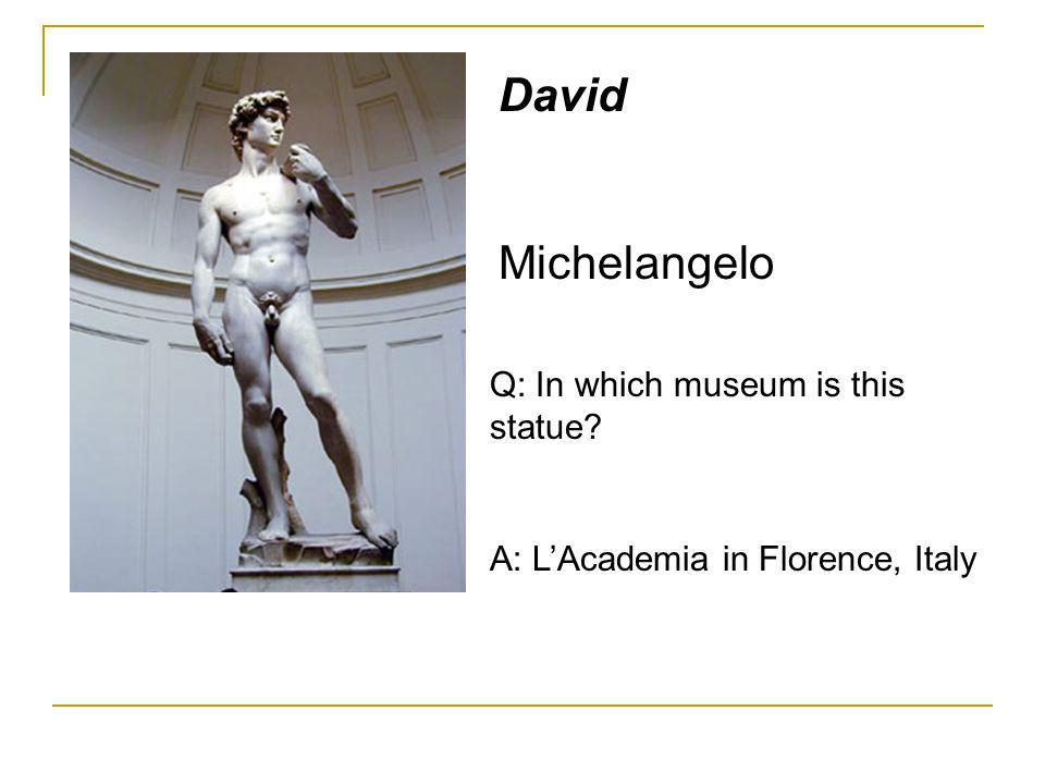 David Michelangelo Q: In which museum is this statue